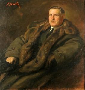 Portret W. Strakacza, znajduje się w zbiorach Muzeum Hist. m. st. Warszawy